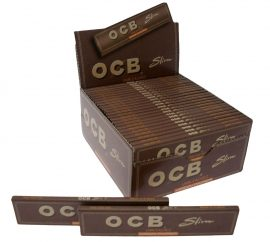 OCB Virgin Unbleached Kingsize Slim