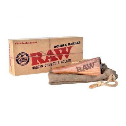 RAW Double Barrel Cig Holder Wooden